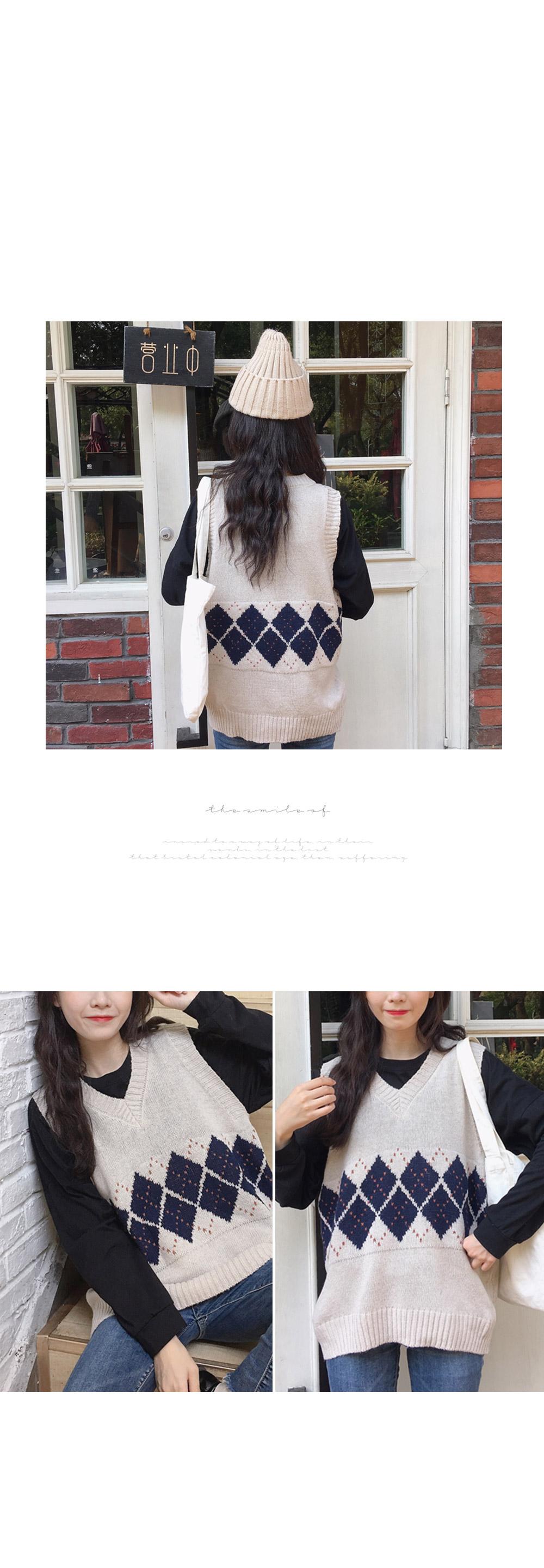 Bedden Argyle Knit Best