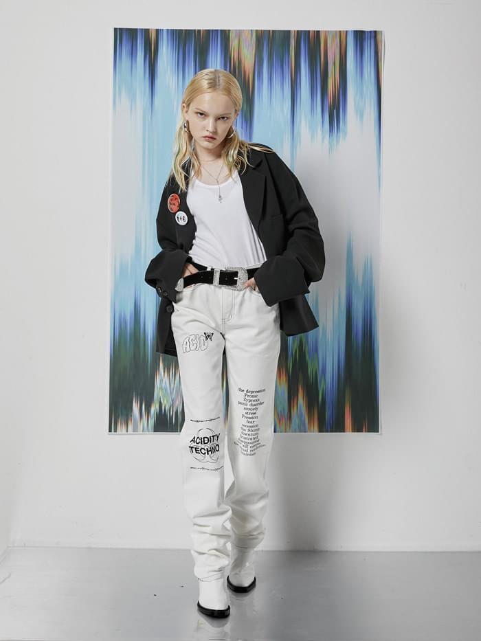 ACIDITY - ACID PRINTING COTTON LONG PANTS (IVORY) - 10월초 입고예정
