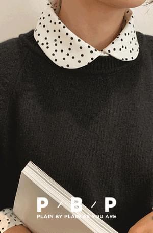 PBP.Mini-dot round collar blouse