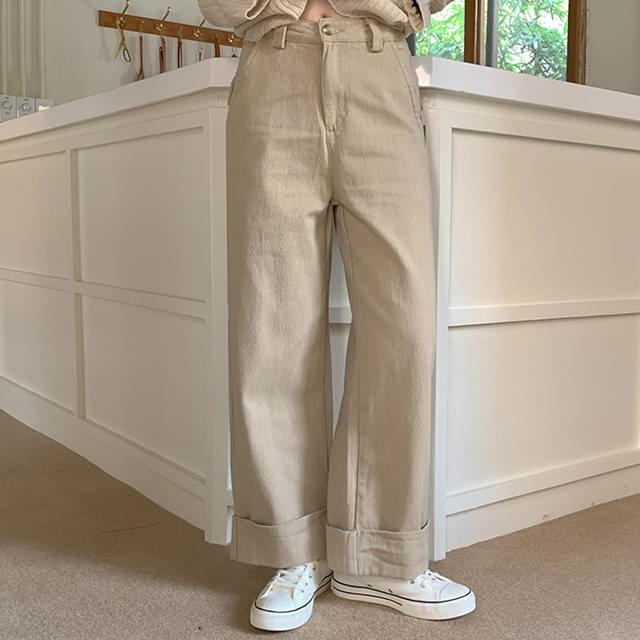 Roll Up Tory Wide Pants