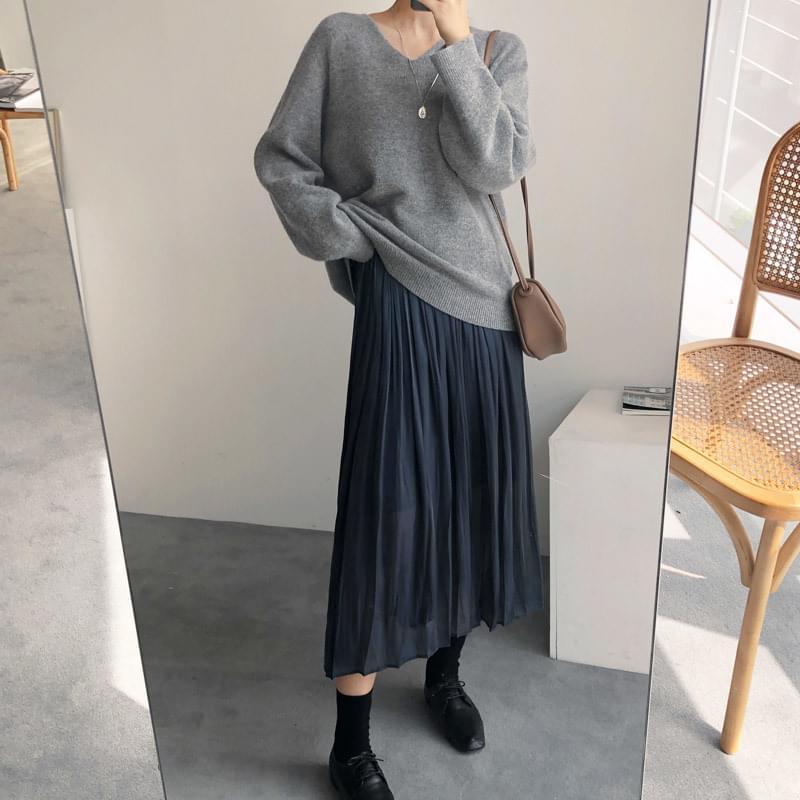 Pleated winkle sk skirt