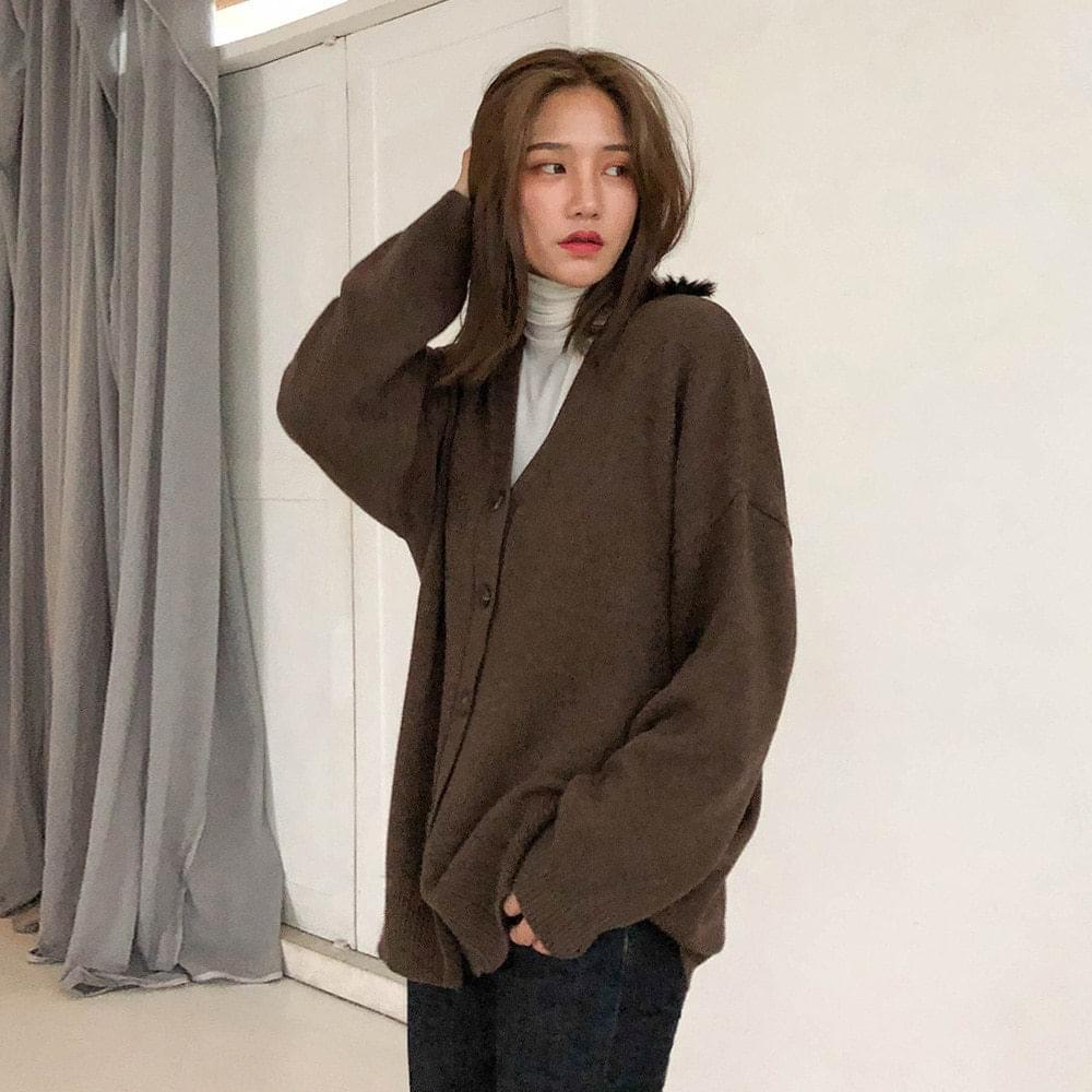 Wool loose fit cardigan