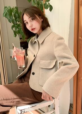 숏카라 핸드메이드 자켓 (3colors)