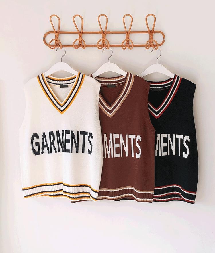 Garments knit vest