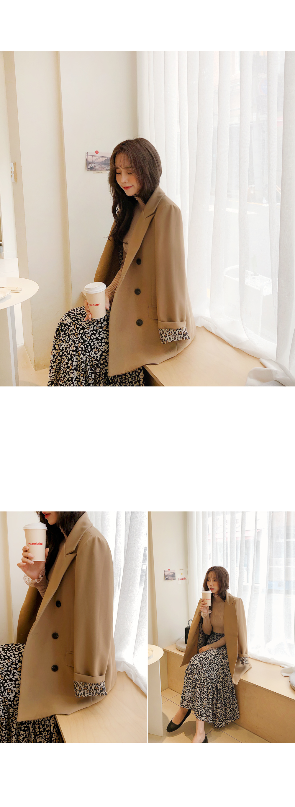 Stylish Leopard Point Jacket