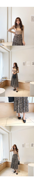 Flared Leopard Bending Skirt
