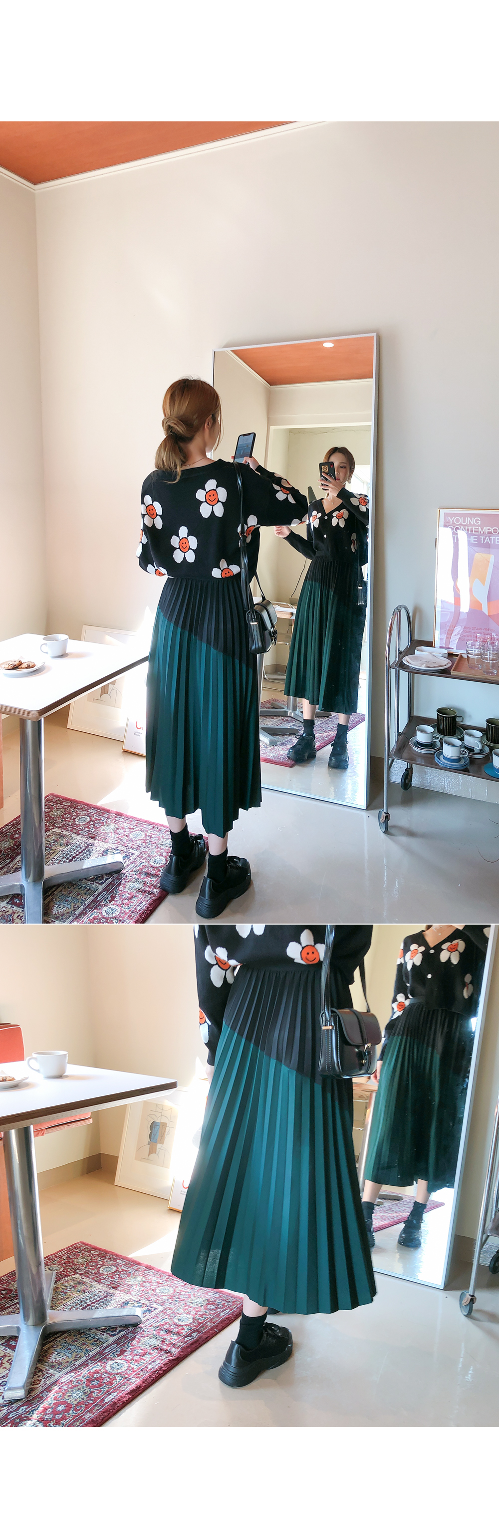 Color point daily skirt