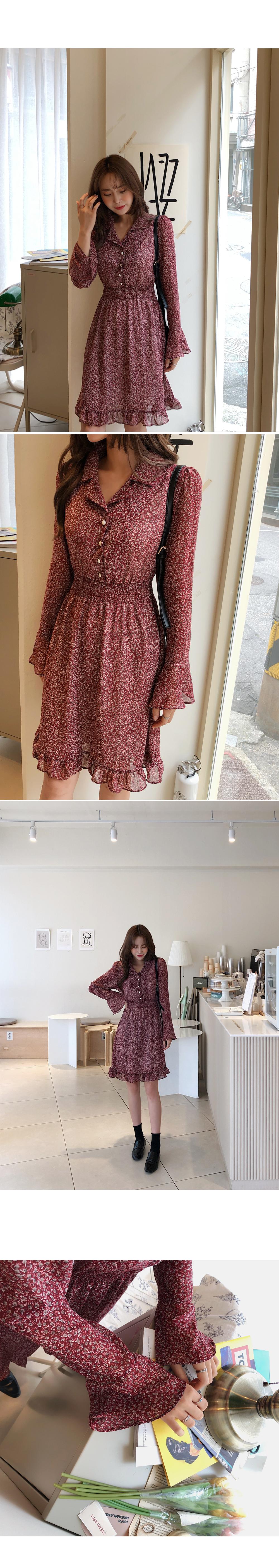 Fluttering ruffle dress