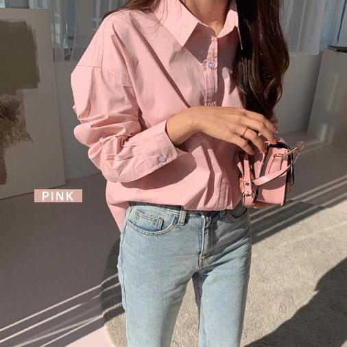 웨인 베이직 컬러 셔츠 남방