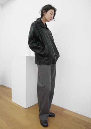 minimal fake leather jacket