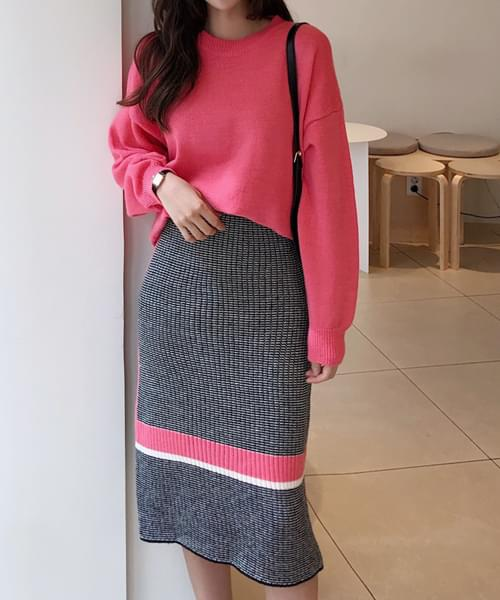 The warmth is knit + skirt SET to you