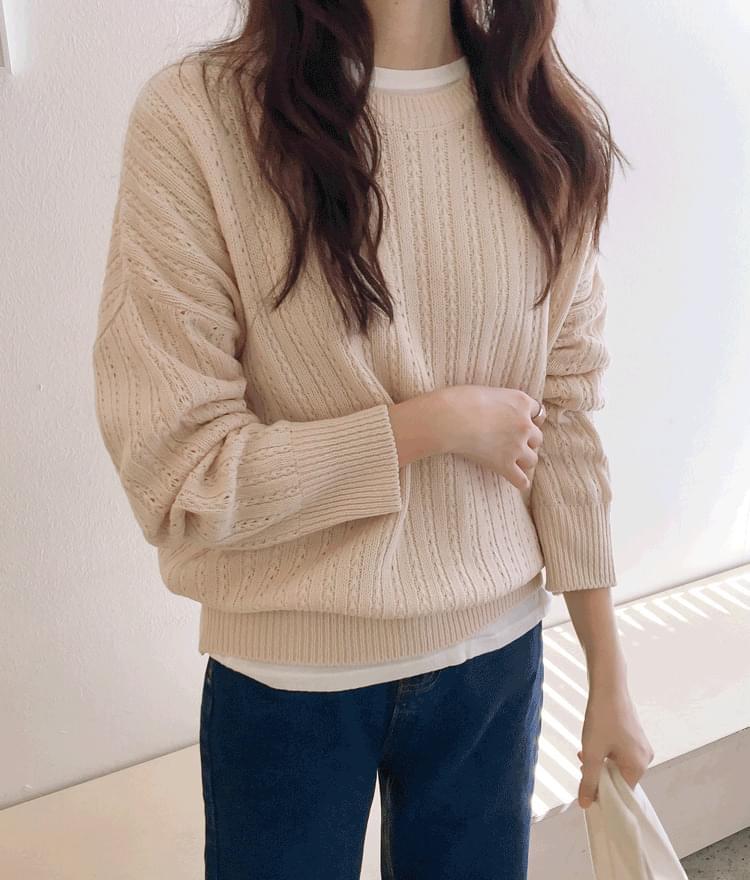 Jenny Eyelet Pure Knit