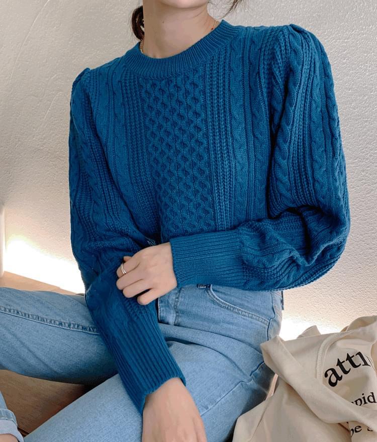 Moss round knit