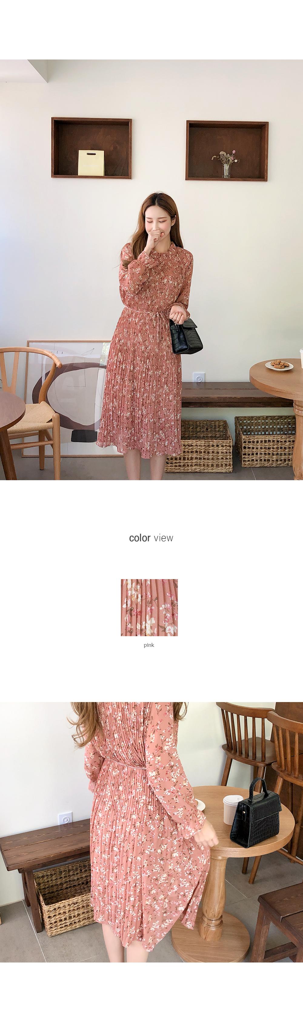 Fluffy Flower Wrinkle Dress