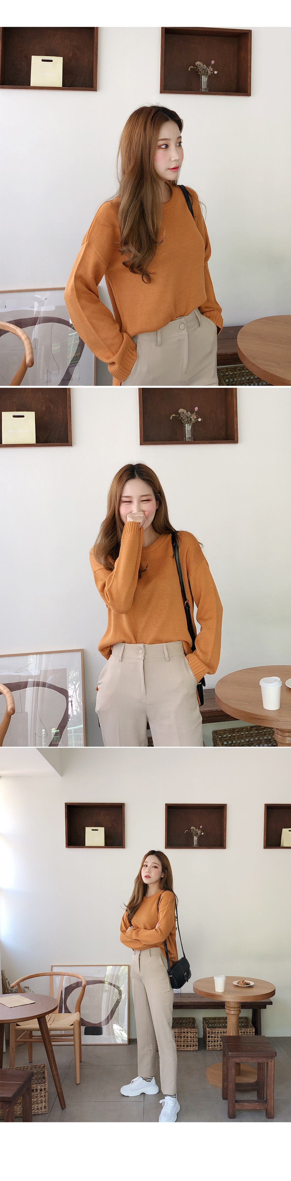 Good-looking daily look knit