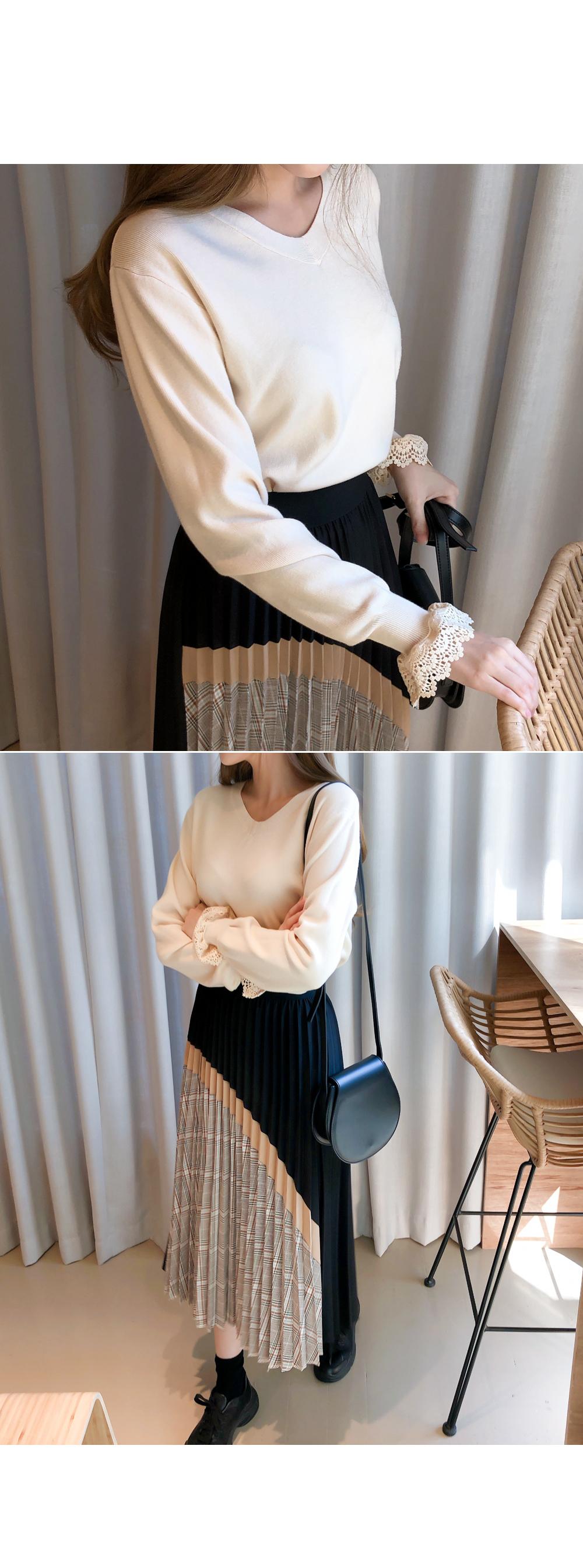 Light lace color knit