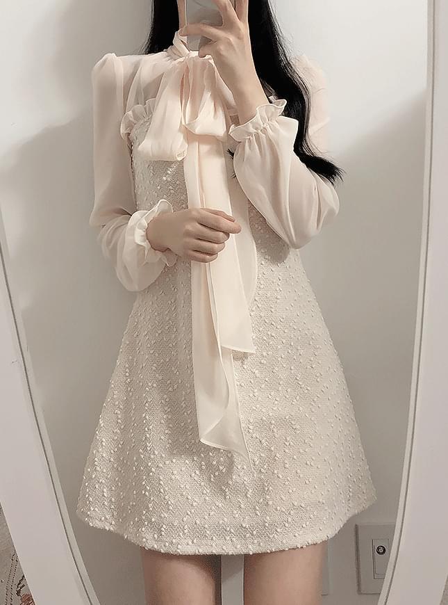 Sequin Tie Color Dress