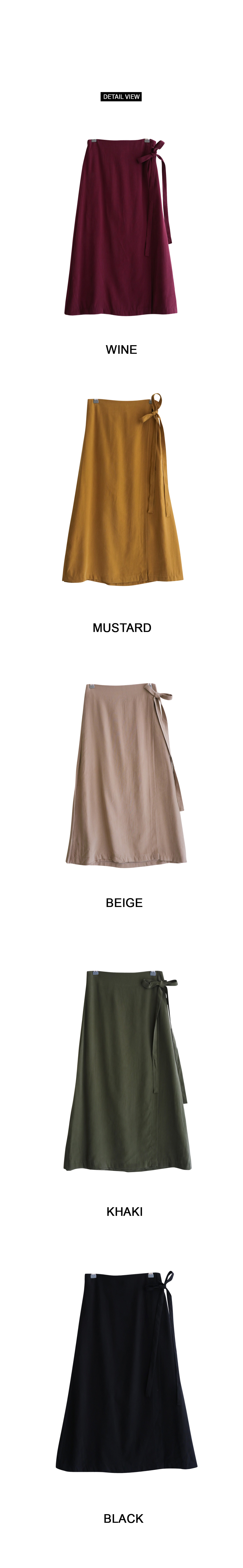 Long wrap party skirt