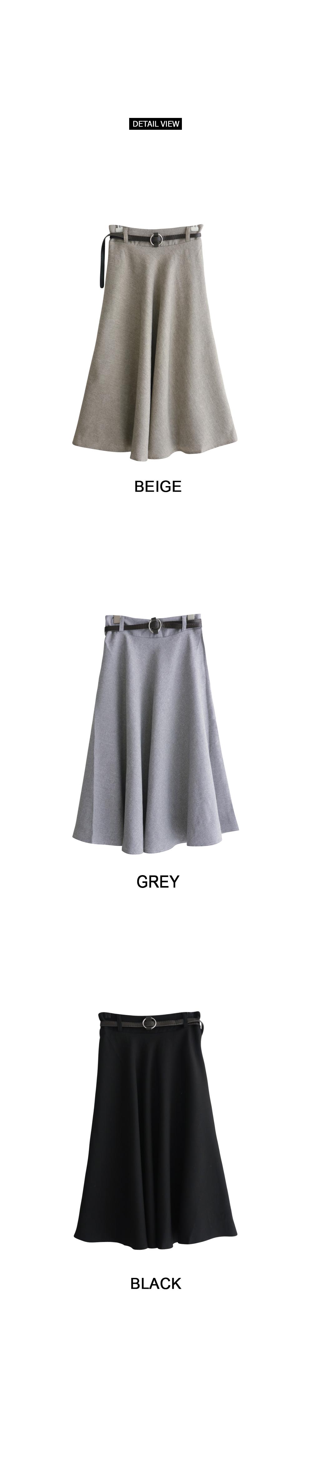 Basic plain long skirt