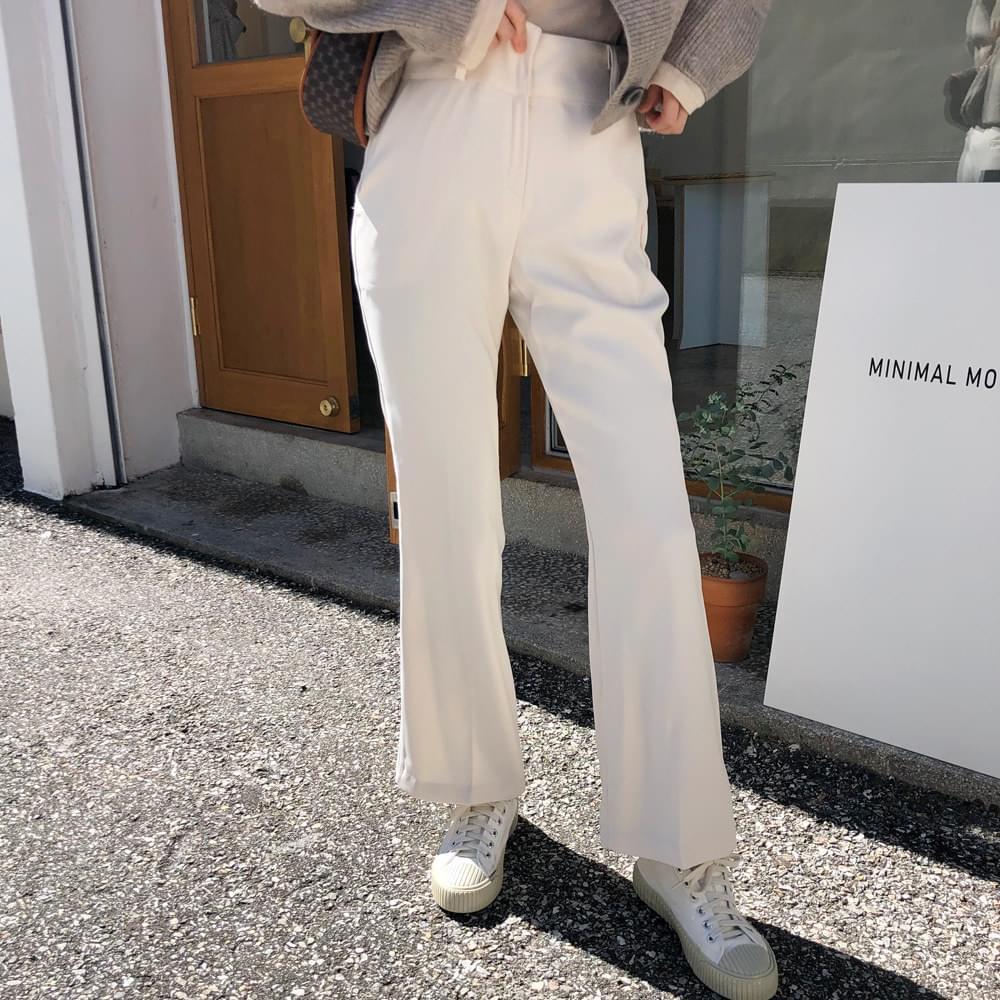 Cream Boots Cut Pants