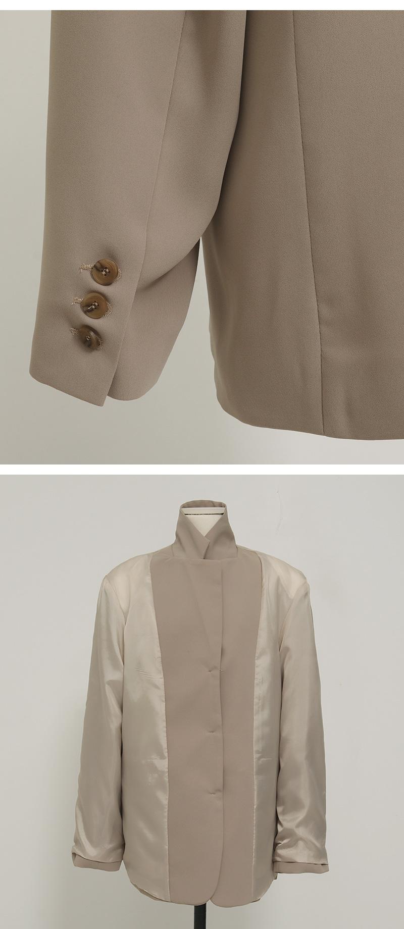 Oliver overfit belt jacket_C