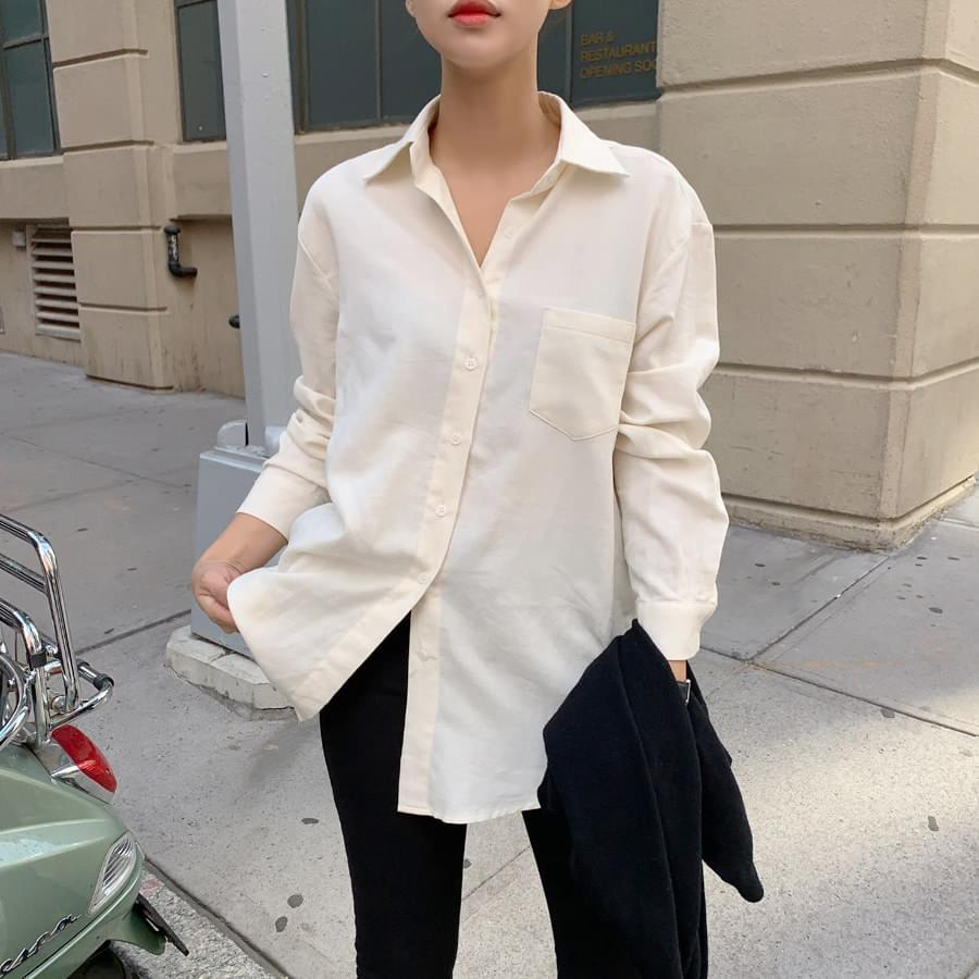 Boxy pocket shirt