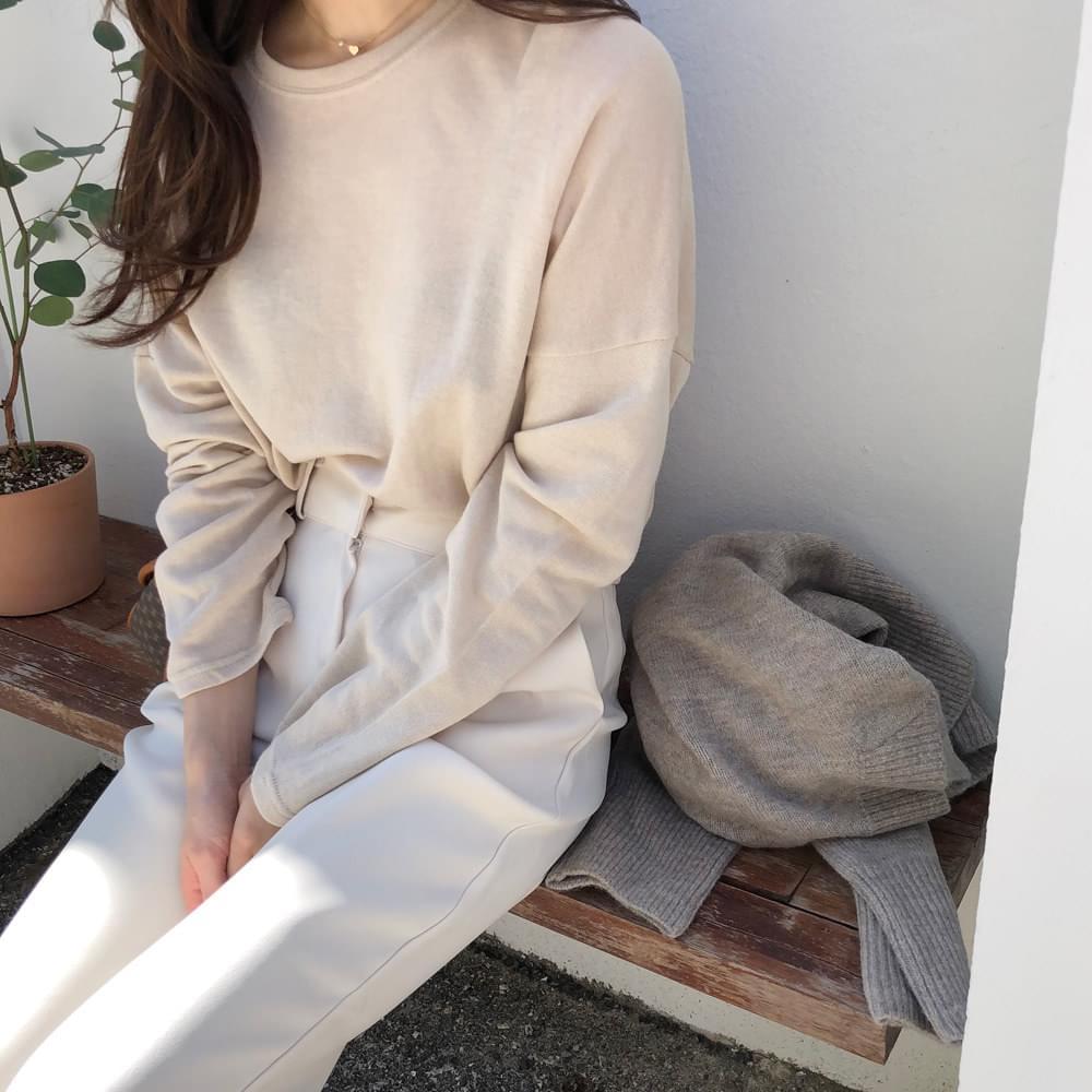 Knit Round T-shirt
