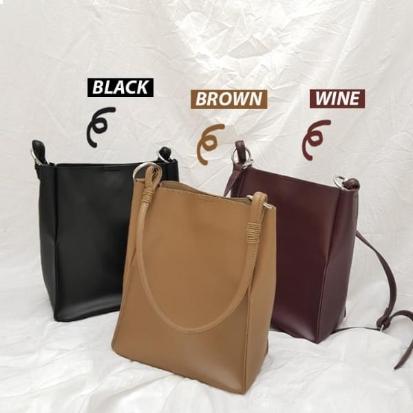 Bolt leather two-way bag