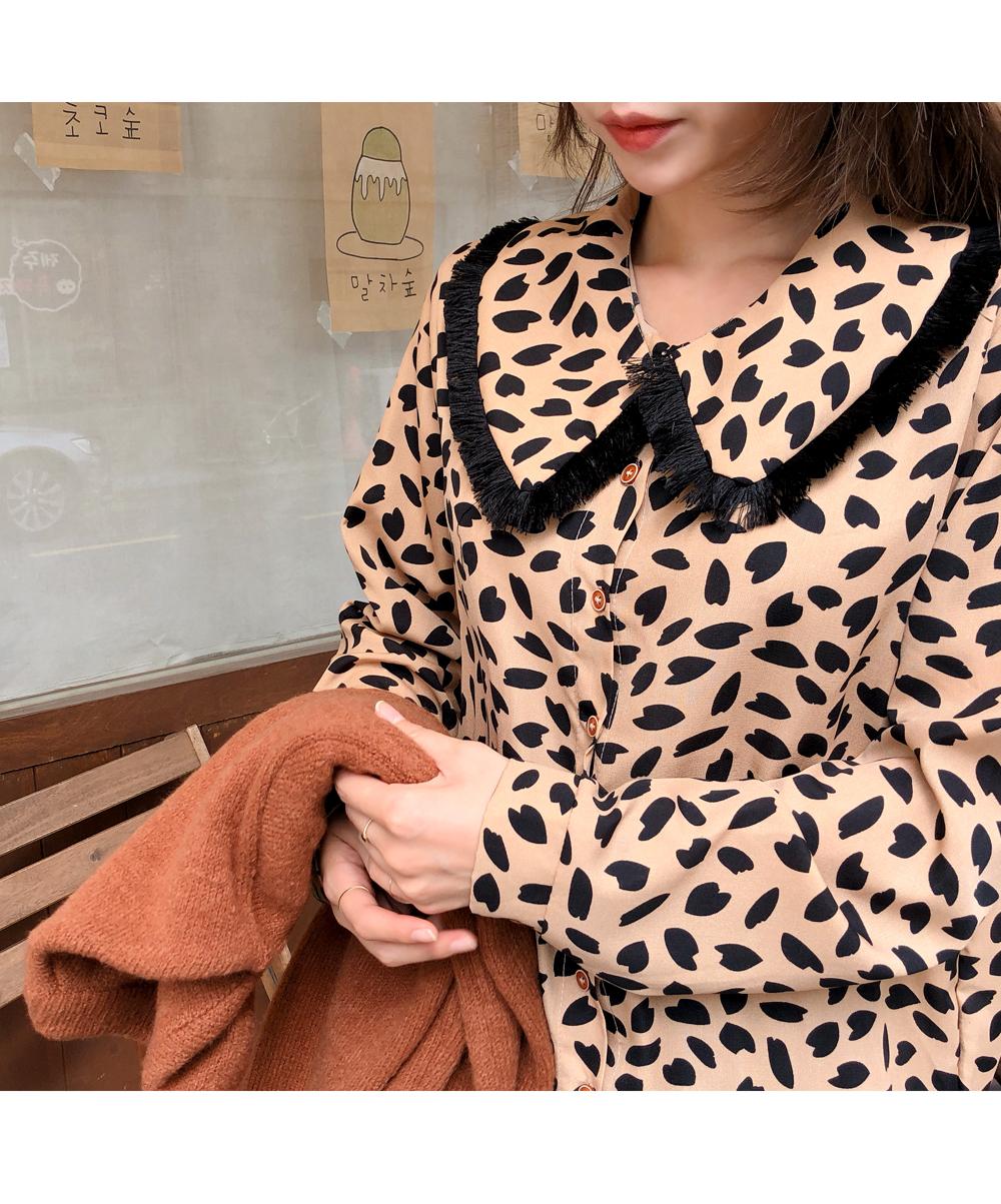 Big color leopard pattern dress