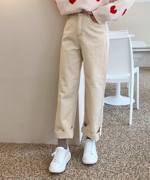 Natural wide pants