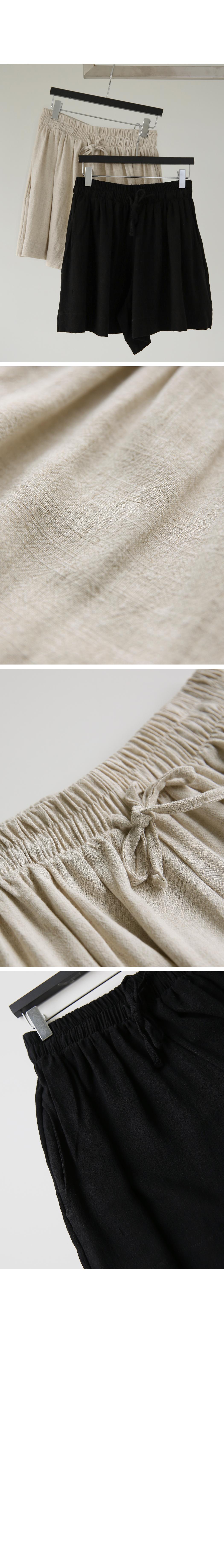 Linen flare skirt pants