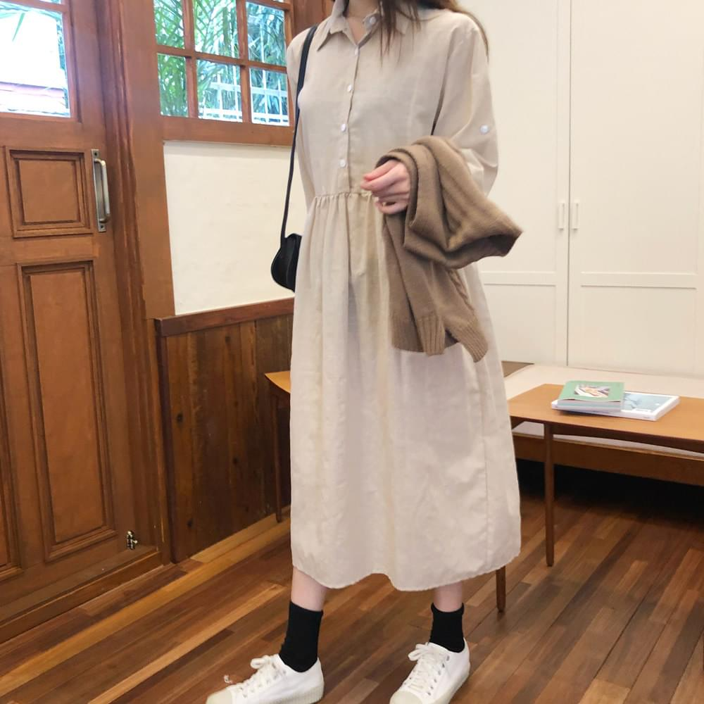 Cream Sand Shirt Dress