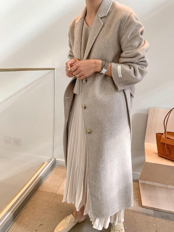 MMMM / haute grey single handmade coat