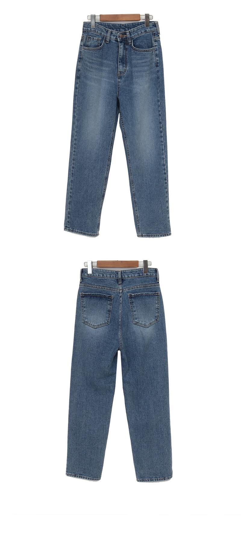 Rough washing denim pants_C