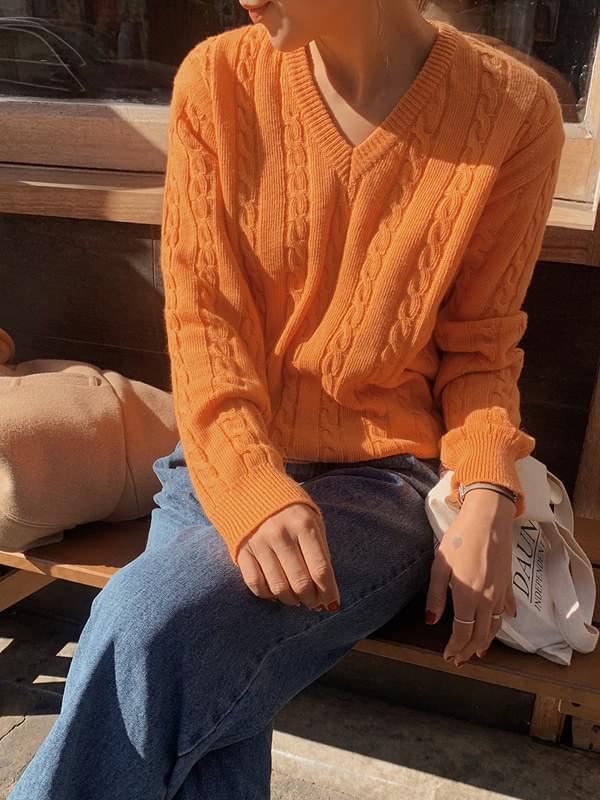 Orange Market Cable Knit knitwears