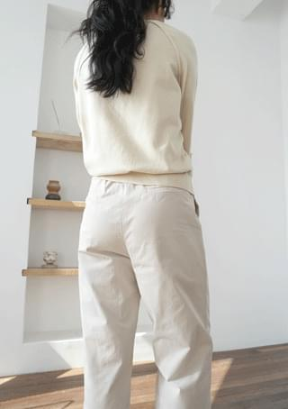 solid hard cotton pants