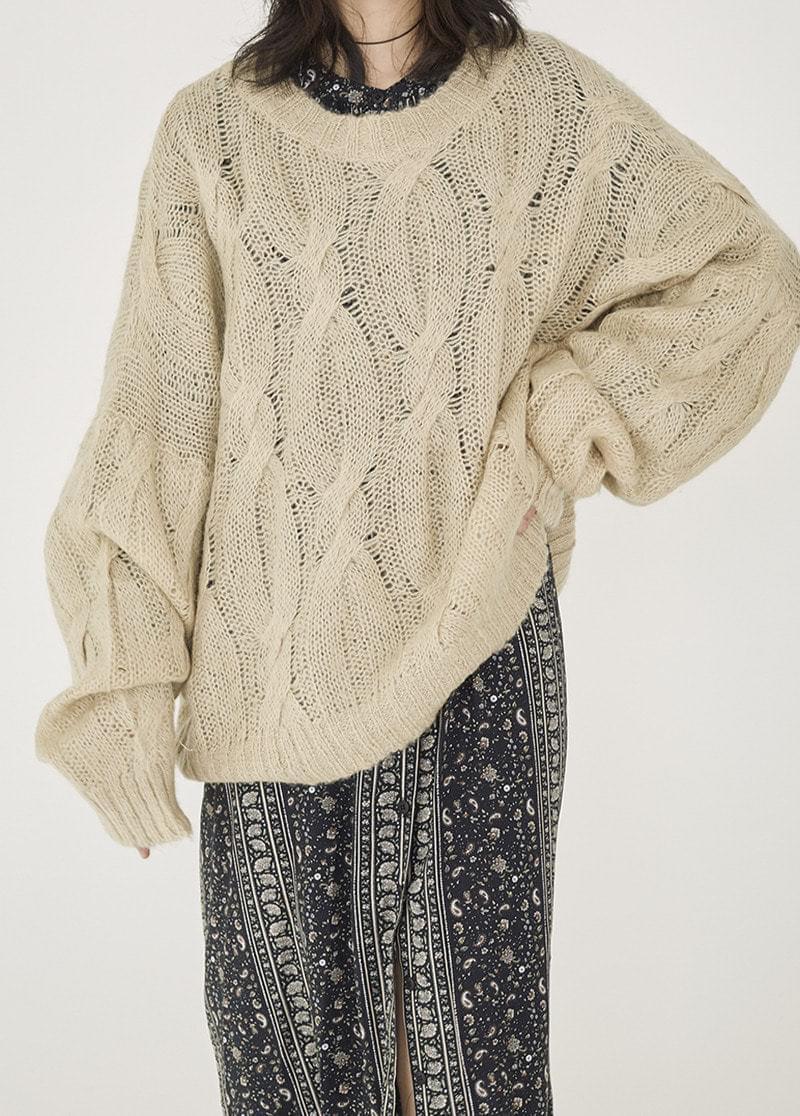 Overfit Pretzel Knit