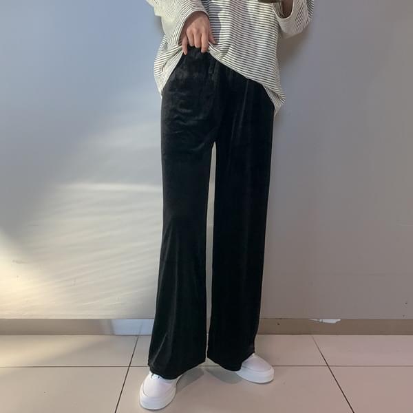 Veroni Velvet Banding Pants