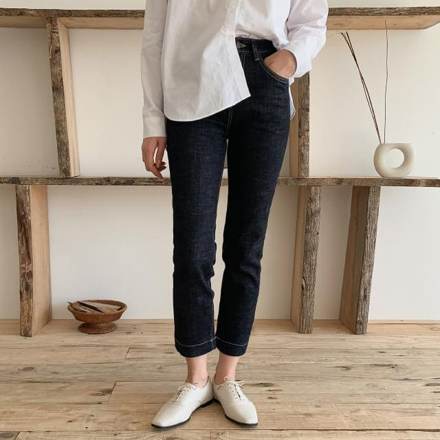 Stitched Slim Span Dough Jeans