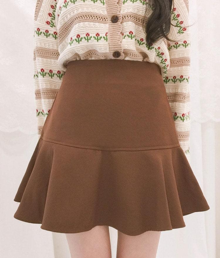 Maple flared skirt pants