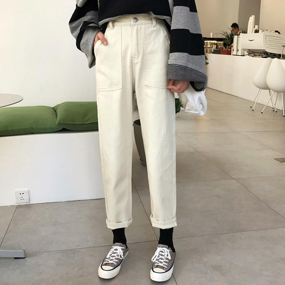 Duy straight fit cotton pants
