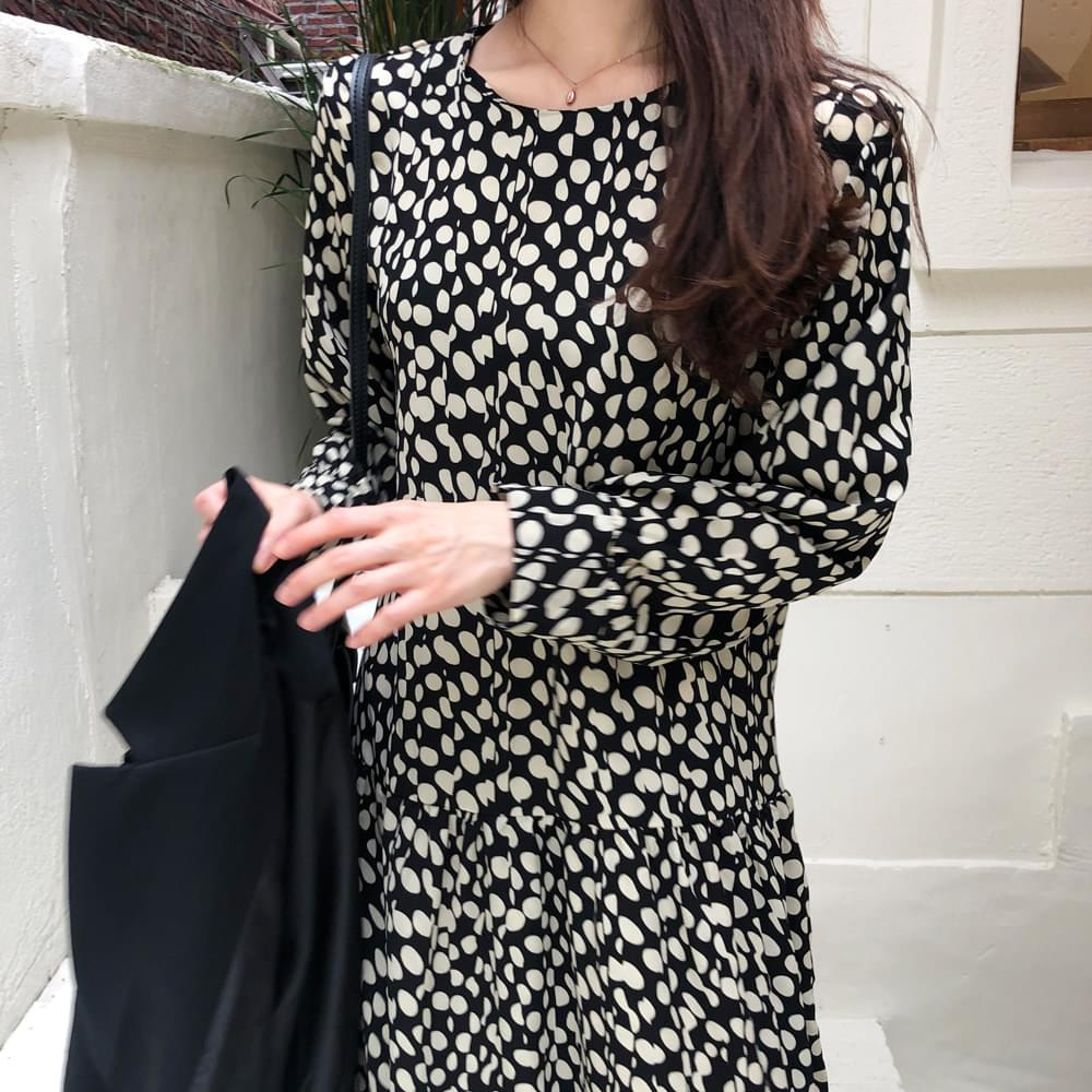 Circle Pattern Long Dress