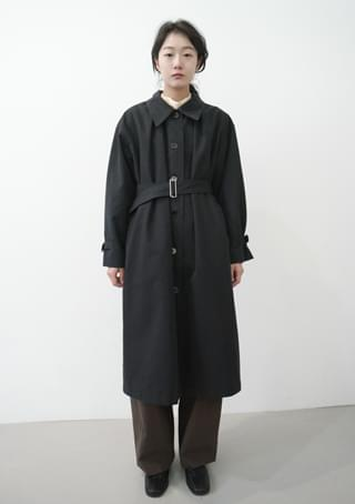 classic hard cotton trench coat