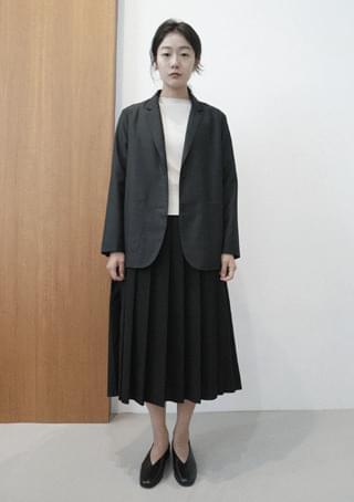wool tencel light jacket