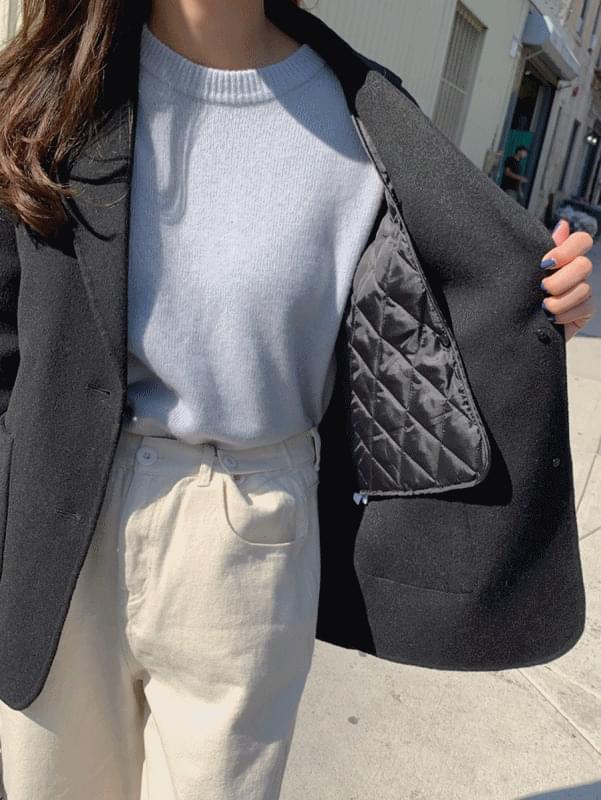 (H.M) 누빔 핸드메이드 코트