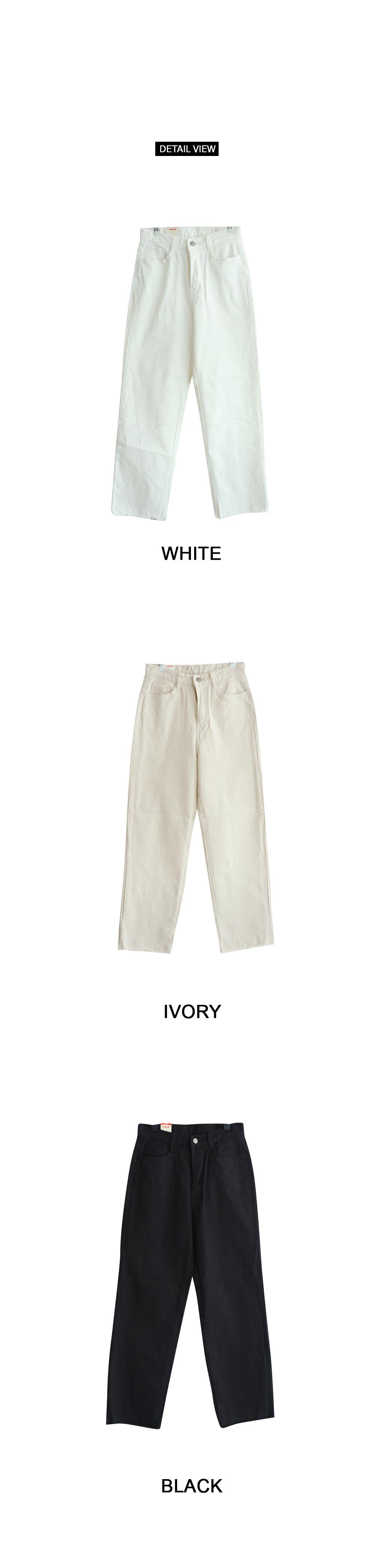 Tie Cotton Long Wide Pants