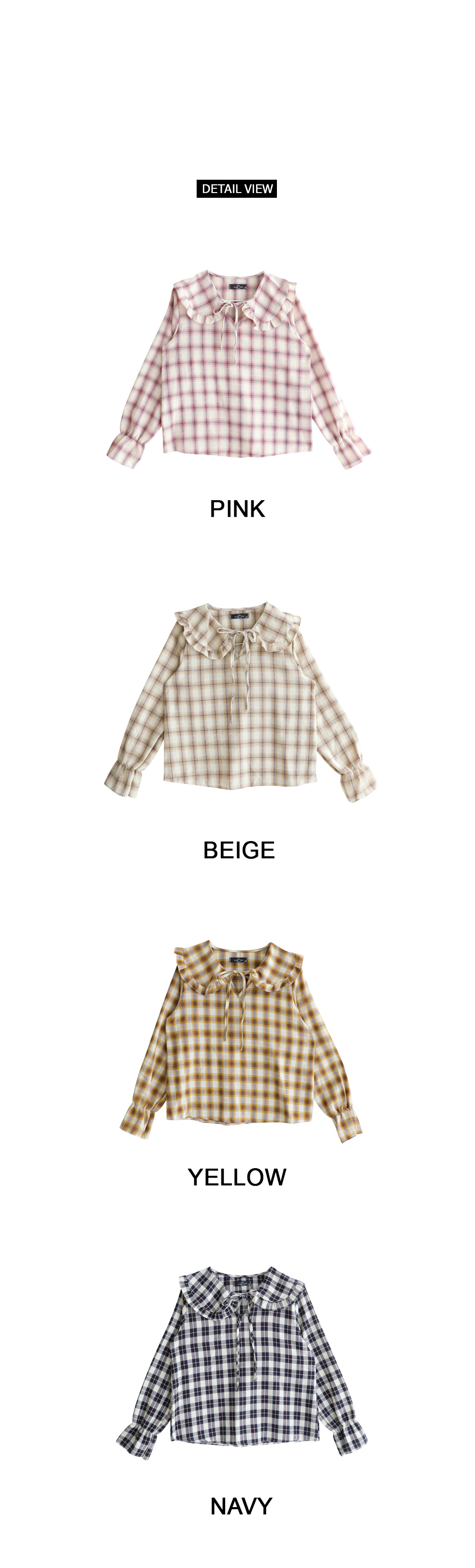 Sweet check blouse