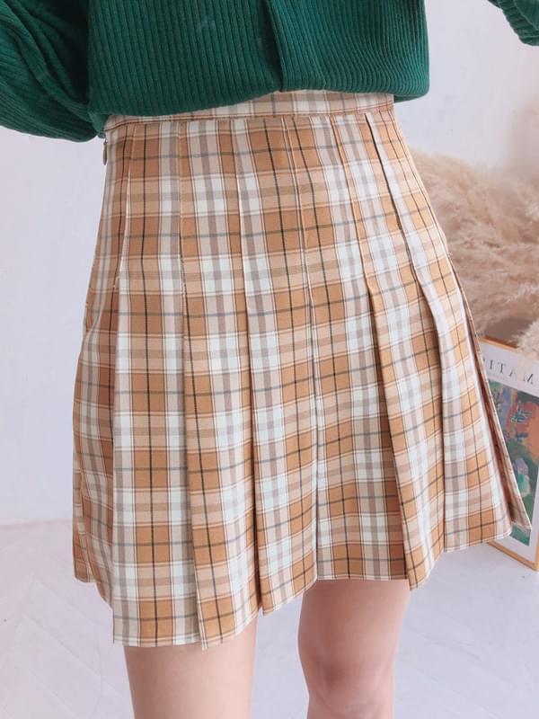 Butterfly Check Tennis Skirt