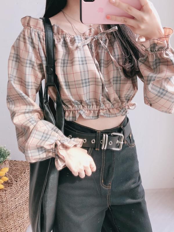 Check off blouse 襯衫