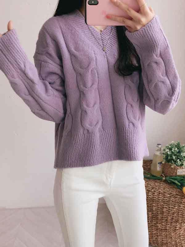 Tess Crop Twist Knit